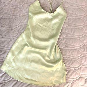 Victoria's Secret low back satin nightgown/ slip